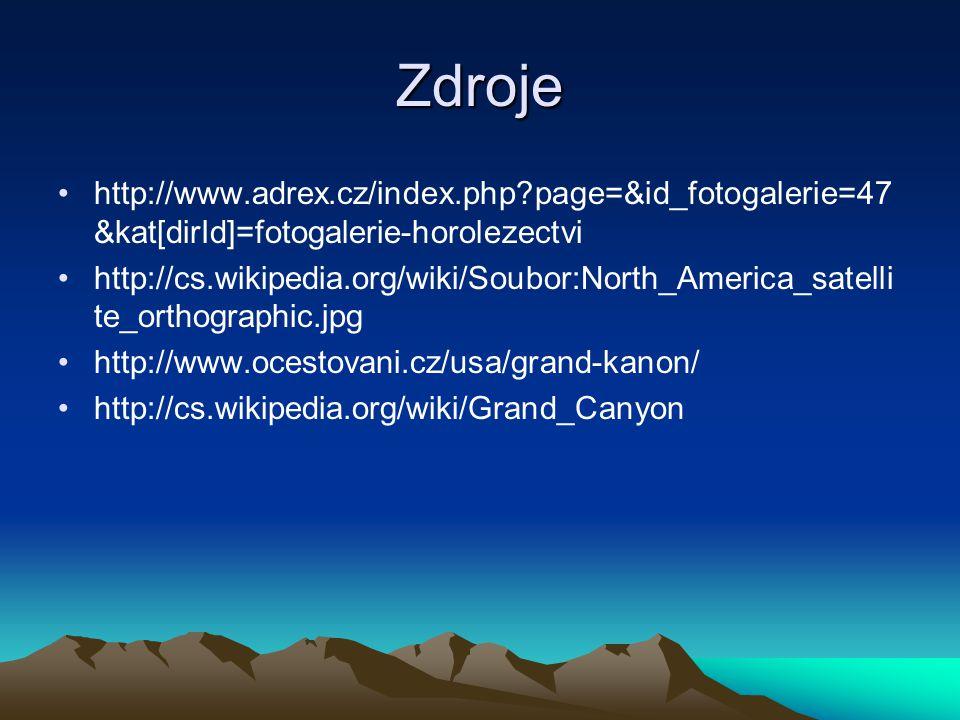 Zdroje http://www.adrex.cz/index.php page=&id_fotogalerie=47&kat[dirId]=fotogalerie-horolezectvi.